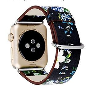 42mm/44mm Floral Print Apple Watch Leather Band